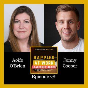 Happier at Work podcast Jonny Cooper