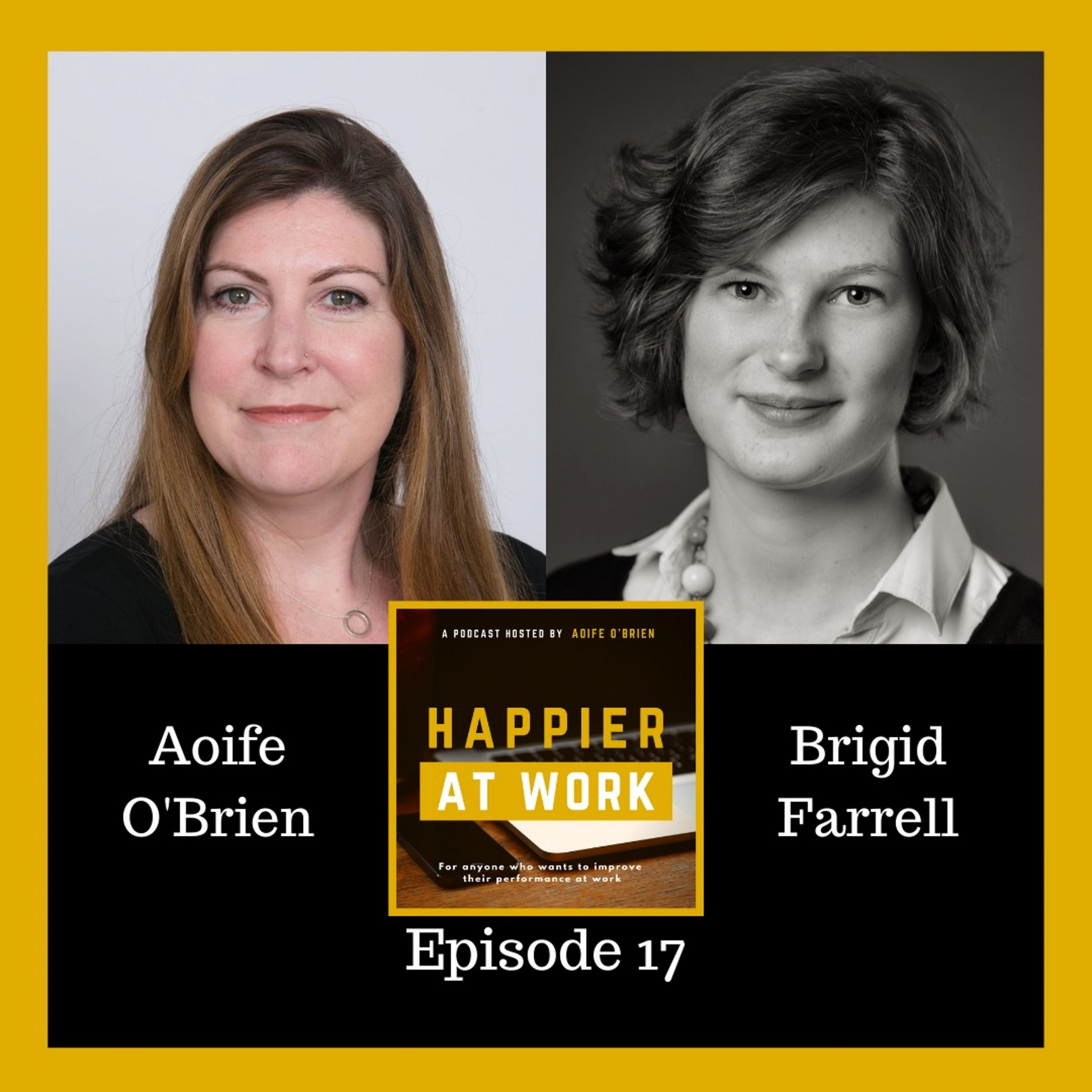 Happier at Work podcast Brigid Farrell